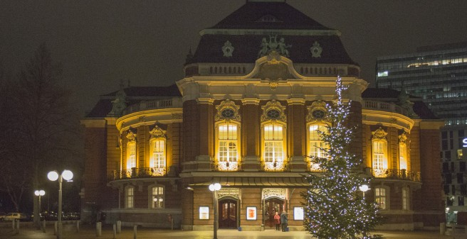 Laiezhalle in der Adventszeit
