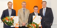 The awardees Dr. Malte Mohme and Levin Schriewer