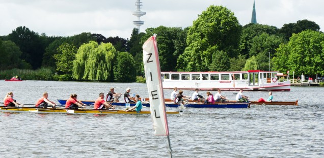 The race took place at the Außenalter Hamburg as each year